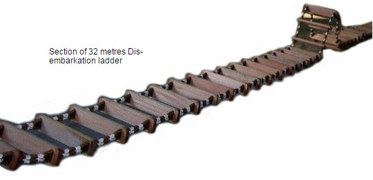 Section of 32 metres Dis-embarkation ladder
